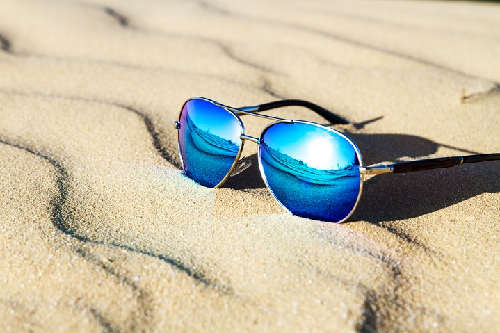 Wear sunglasses to protect against UV rays