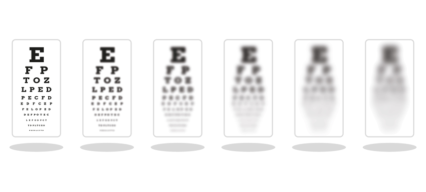 Who is Ferdinand Monoyer and how did he create the modern eye test?