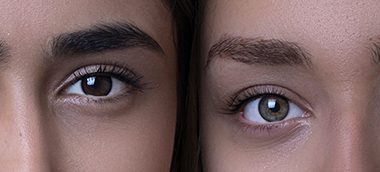 What colour eyes are most attractive