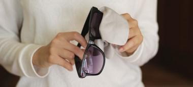 How do I take care of designer sunglasses?