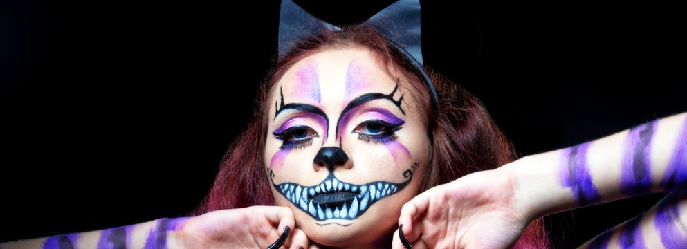 purple cheshire cat costume