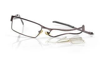 broken glasses when playing sports