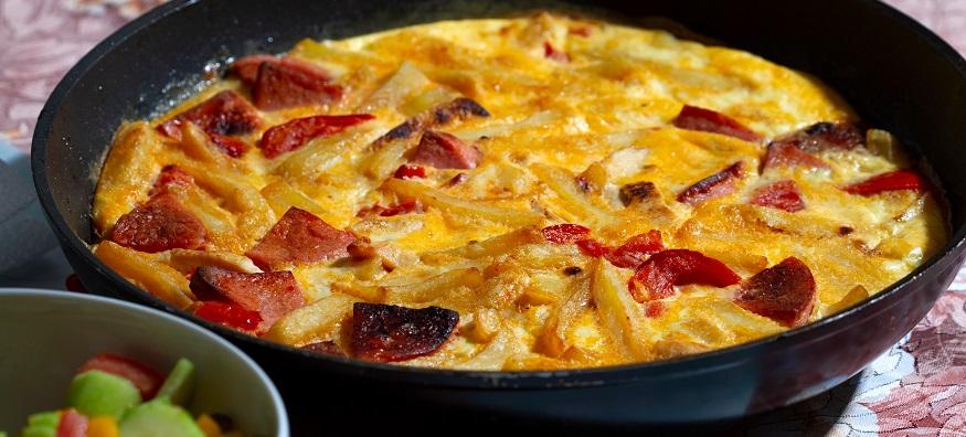 chorizo and sweet potato fritatta
