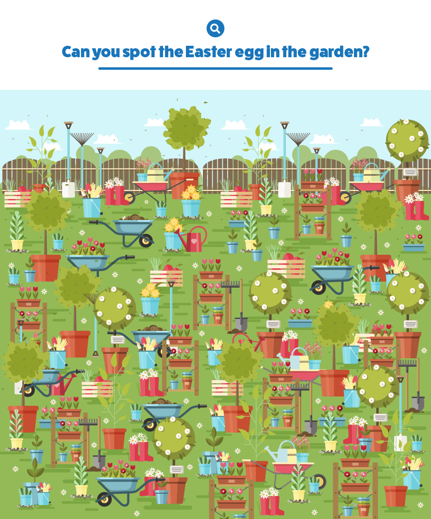 garden easter egg hunt