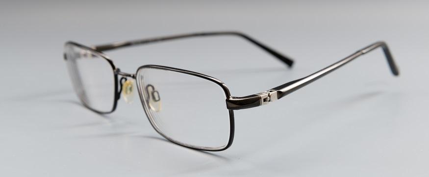 a pair of prescription glasses