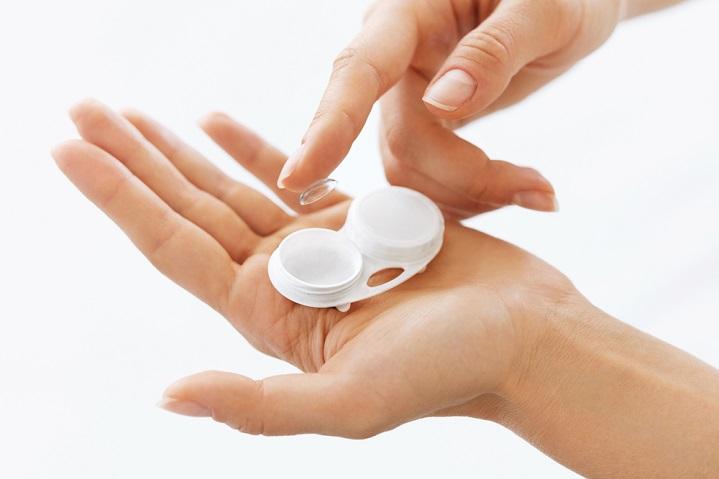 Contact lenses disposal