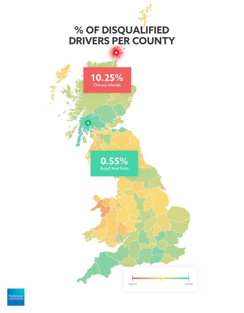 SCOTTISH AND WELSH REGIONS TOP RANKINGS OF BRITAIN'S WORST DRIVERS