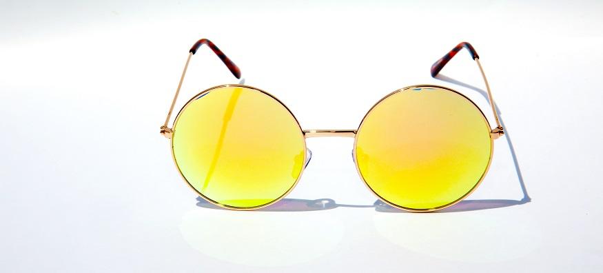 orange round sunglasses