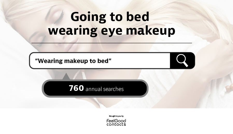 wearing makeup to bed