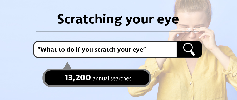 what to do if you scratch your eye