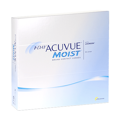 1 Day Acuvue Moist (90 Pack) Contact Lenses
