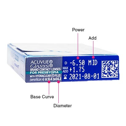 Acuvue Oasys For Presbyopia Box