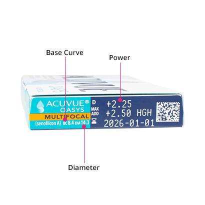Acuvue Oasys Multifocal (6 Pack) Box