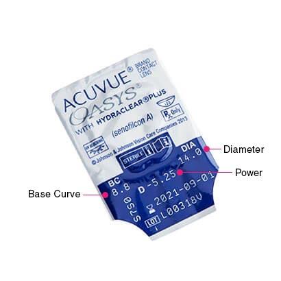Acuvue Oasys Parameters