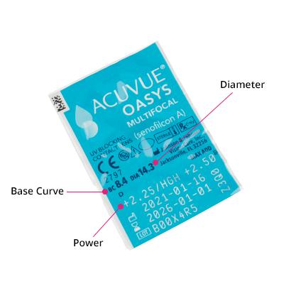 Acuvue Oasys Multifocal (6 Pack) Parameters