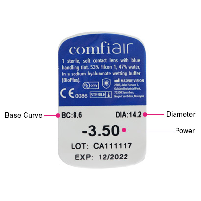 comfi Air (1 Pack) Parameters