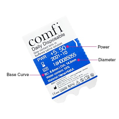 comfi Daily Disposable (5 Pack) Parameters