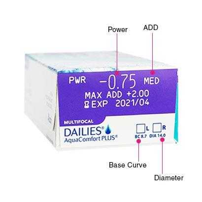 Dailies AquaComfort Plus Multifocal Box