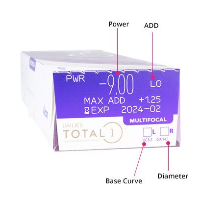 Dailies Total 1 Multifocal Box
