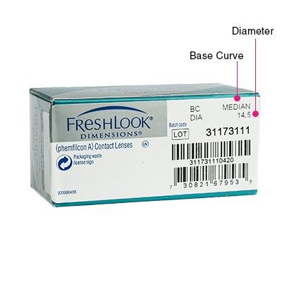 FreshLook Dimensions (6 Pack) Box