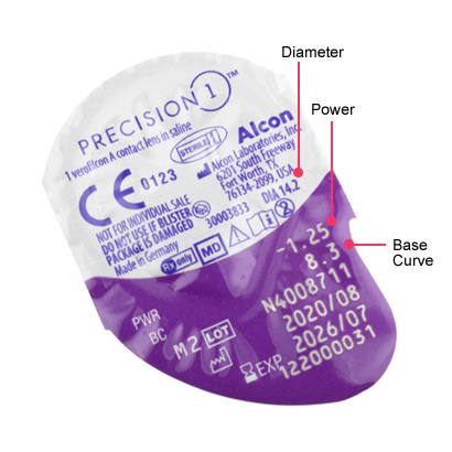 Precision 1 Spherical (90 Pack) Parameters