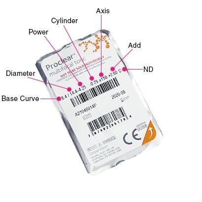 Proclear Multifocal Toric Parameters