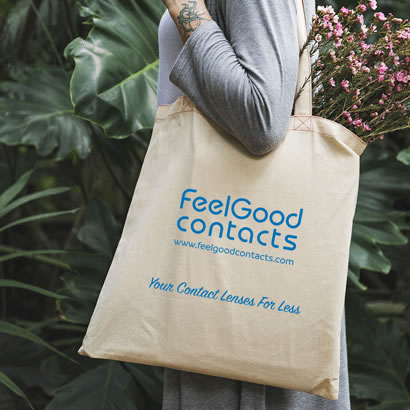 Feel Good Contacts Cotton Tote Bag