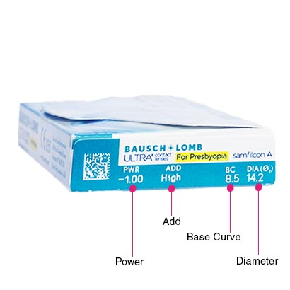 Bausch & Lomb Ultra for Presbyopia (6 Pack) Box