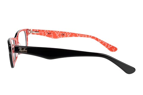 Ray-Ban RX5206 2479 52 Top Black On Texture Red