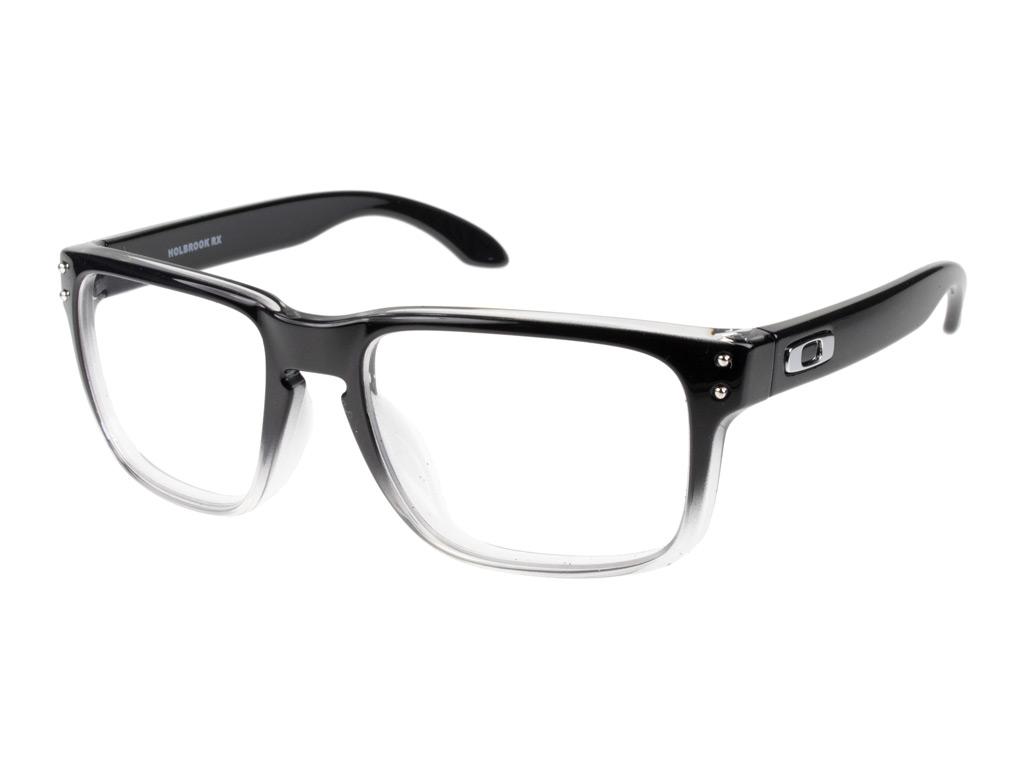 Oakley Holbrook RX OX8156 06 54 Polished Black Clear Fade