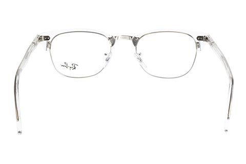 Ray-Ban Clubmaster RX5154 2001 51 White Transparent