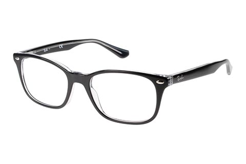 Ray-Ban RX5375 2034 51 Top Black On Transparent