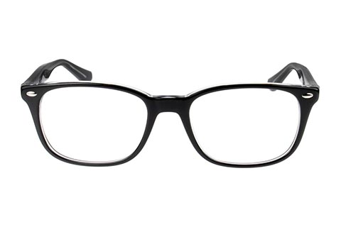Ray-Ban RX5375 2034 53 Top Black On Transparent