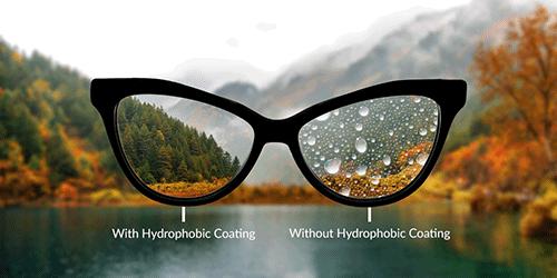 Glasses Lens Options Hydrophobic