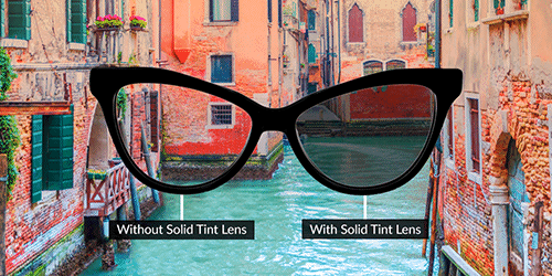 Glasses Lens Options Solid tint