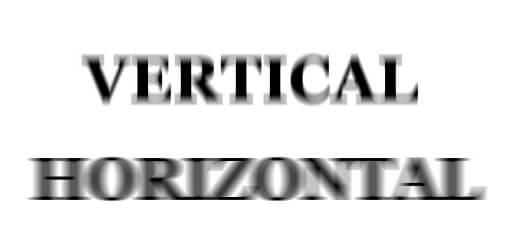 astigmatism vertical horizontal