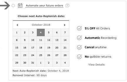 Automate your future orders