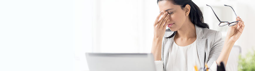 Computer eye strain: Symptoms and solutions