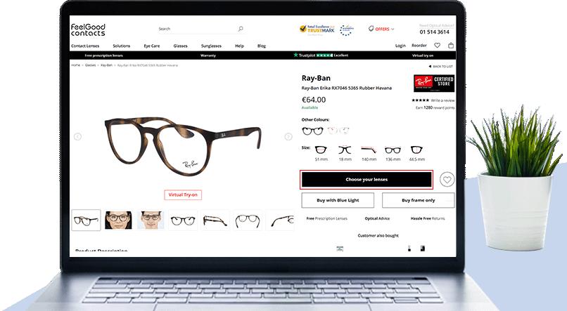 Choose the glasses frames