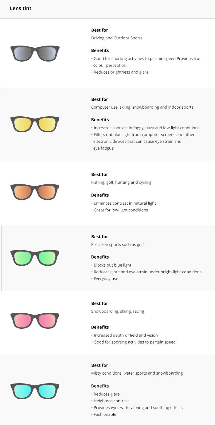 Sunglasses tint