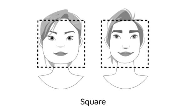 square faces