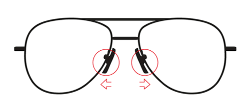 If your glasses are pinching the nose