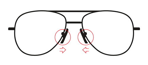 If your glasses are sitting too low