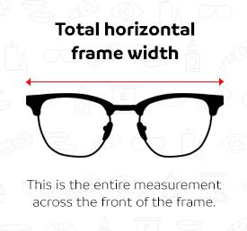 Glasses frame size guide