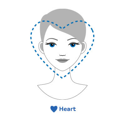 heart-shaped faces