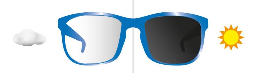 Photochromic glasses
