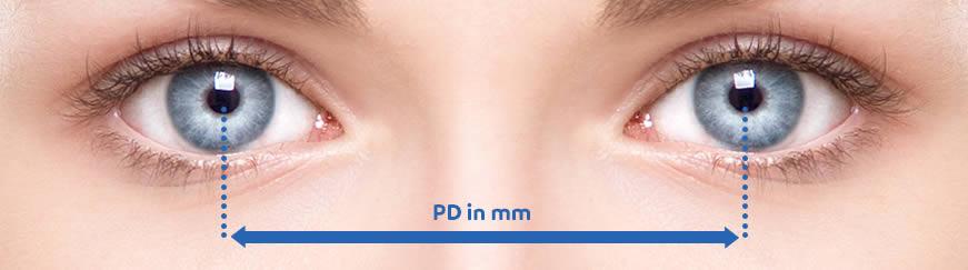 pupillary distance (PD)