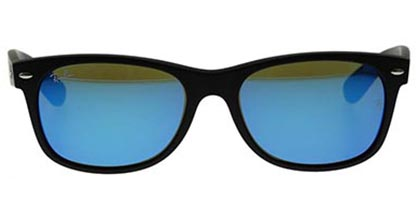 Ray-Ban RB2132 New Wayfarer Black Blue Flash 622/17 Large