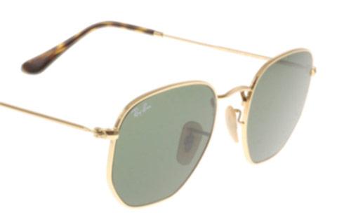 Ray-Ban RB3548N Hexagonal Gold Green 001