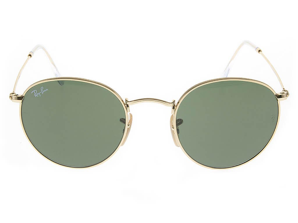 Ray-Ban RB3447 Round Gold Green 001